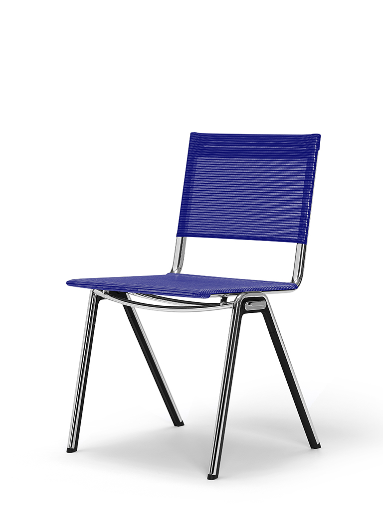 BLAQ chair | divided seat and back | ink blue