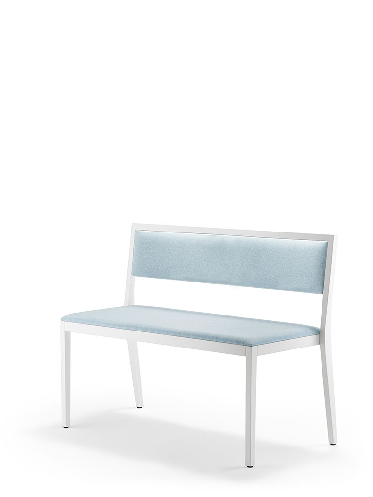 bonnie bench | upholstered seat and backrest