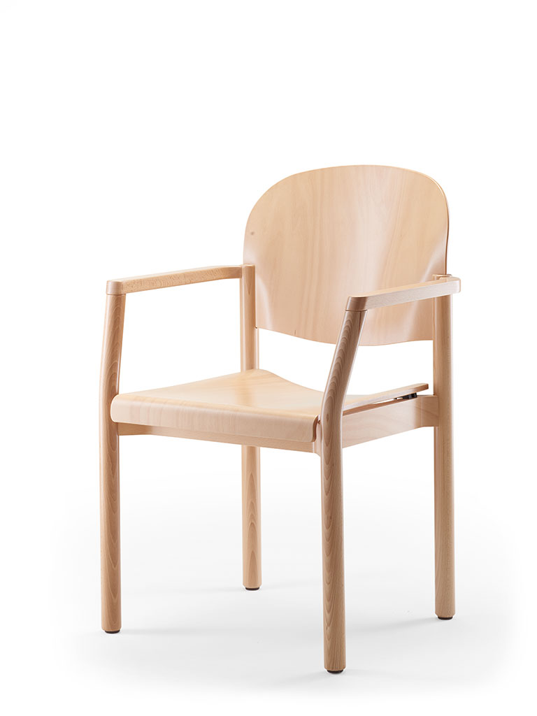 elena | wooden chair | not upholstered | with armrests