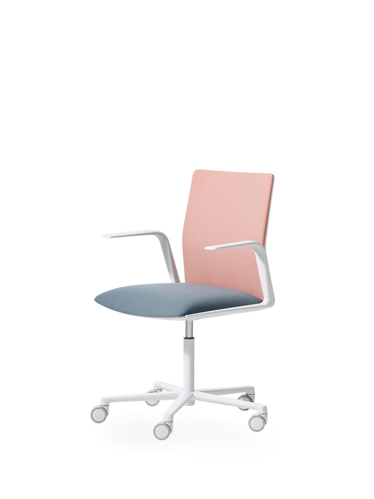 Kinesit by Arper | office chair | pink | blue