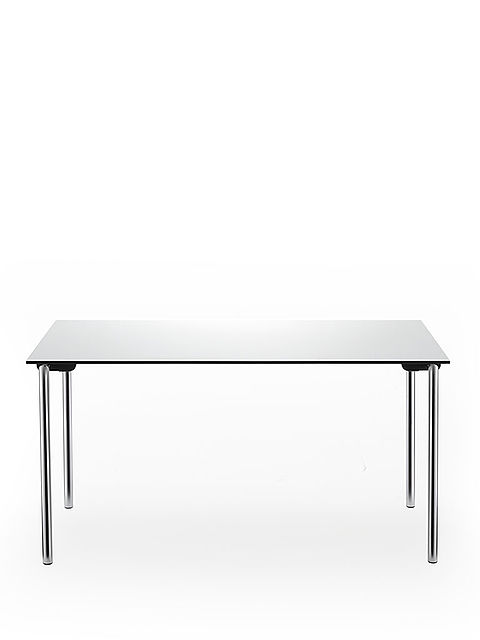 system 24 folding table | chrome-plated frame | solid core panel