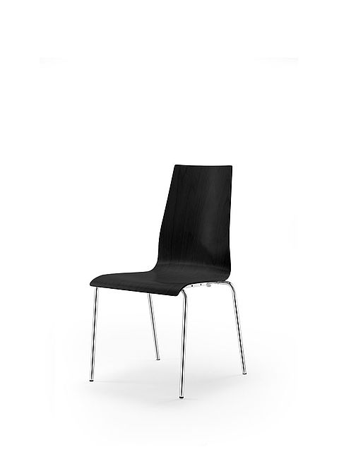 garcia | four-legged chair | black stained shell