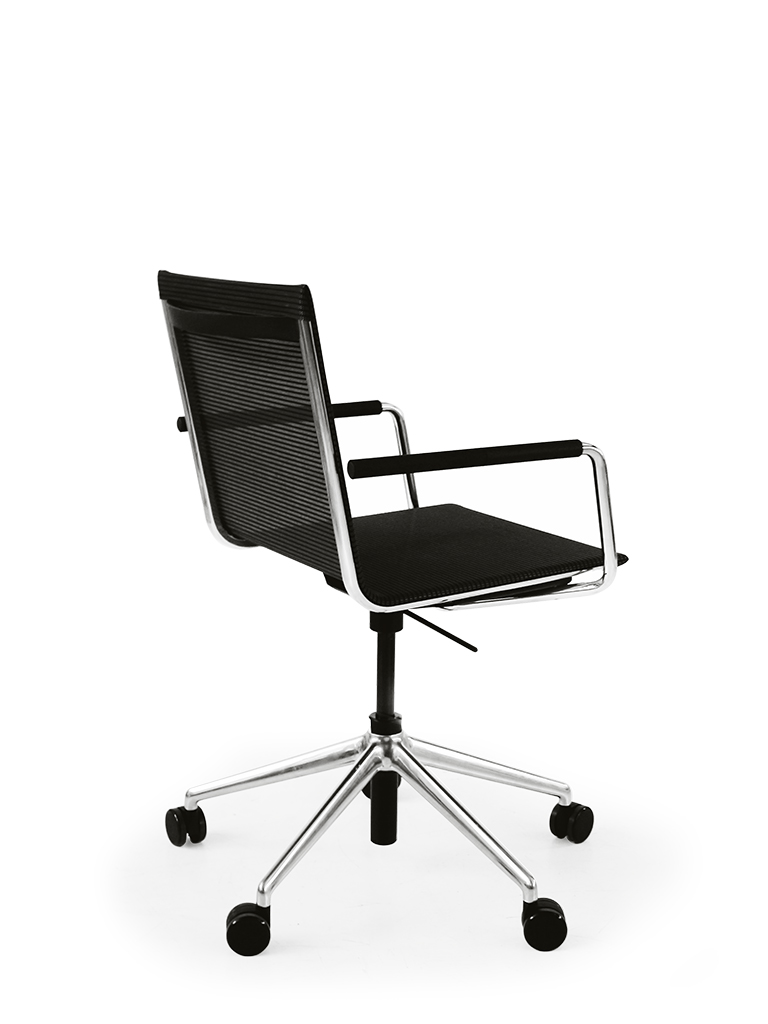 BLAQ Office Chair Drehstuhl_5-Stern-Fuß mit Rollen