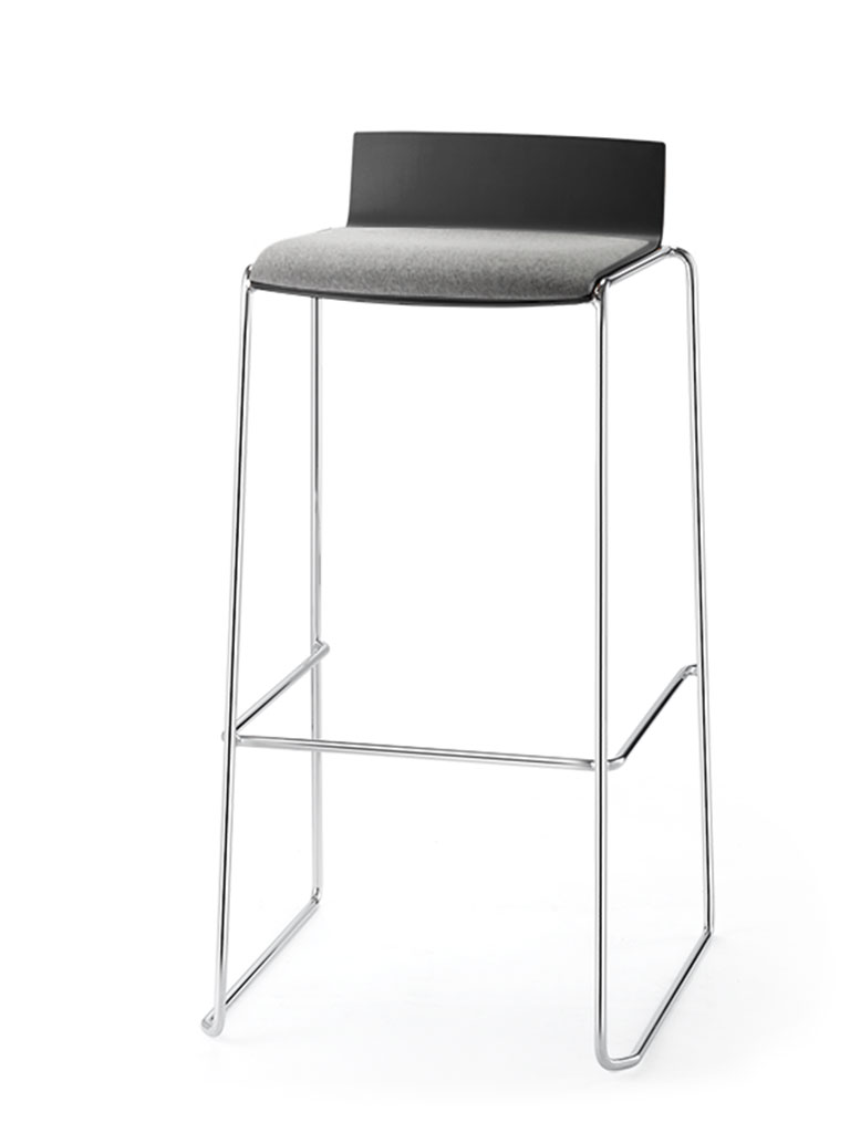 Eless tabouret de bar | assise garnie