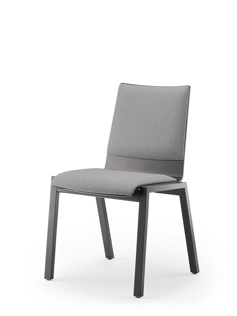 PAN | four-legged chair | upholstered seat and backrest