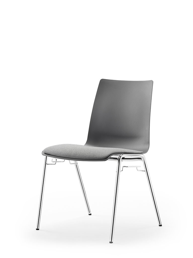 atlanta 456 | polypropylene shell | upholstered seat