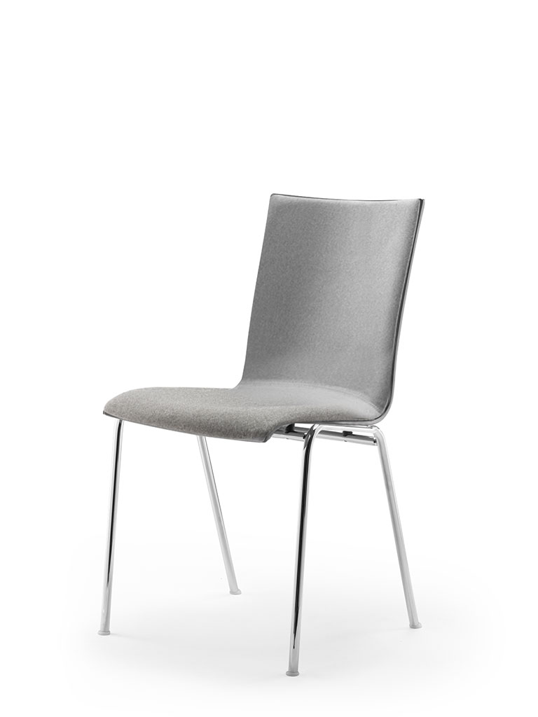 atlanta 50 | steel tube chair | four-legged chair | shell 40 | fully upholstered front