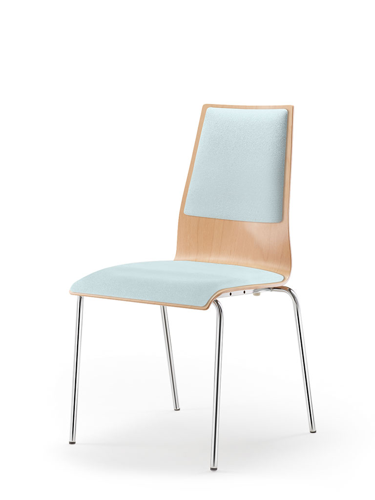 garcia | four-legged chair | upholstered seat and backrest