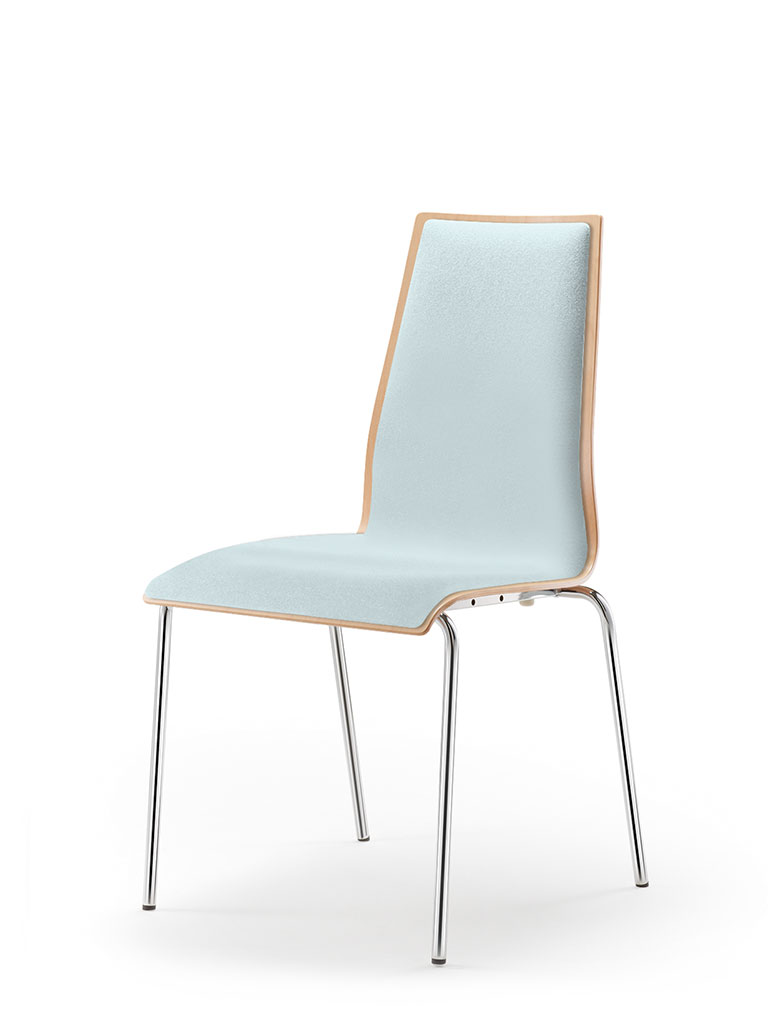 garcia | four-legged chair | fully upholstered front