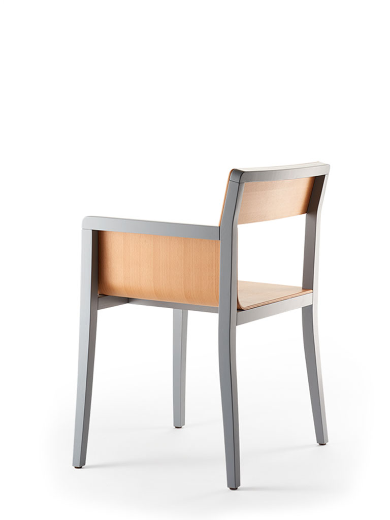 li-lith armchair | not upholstered | rear view