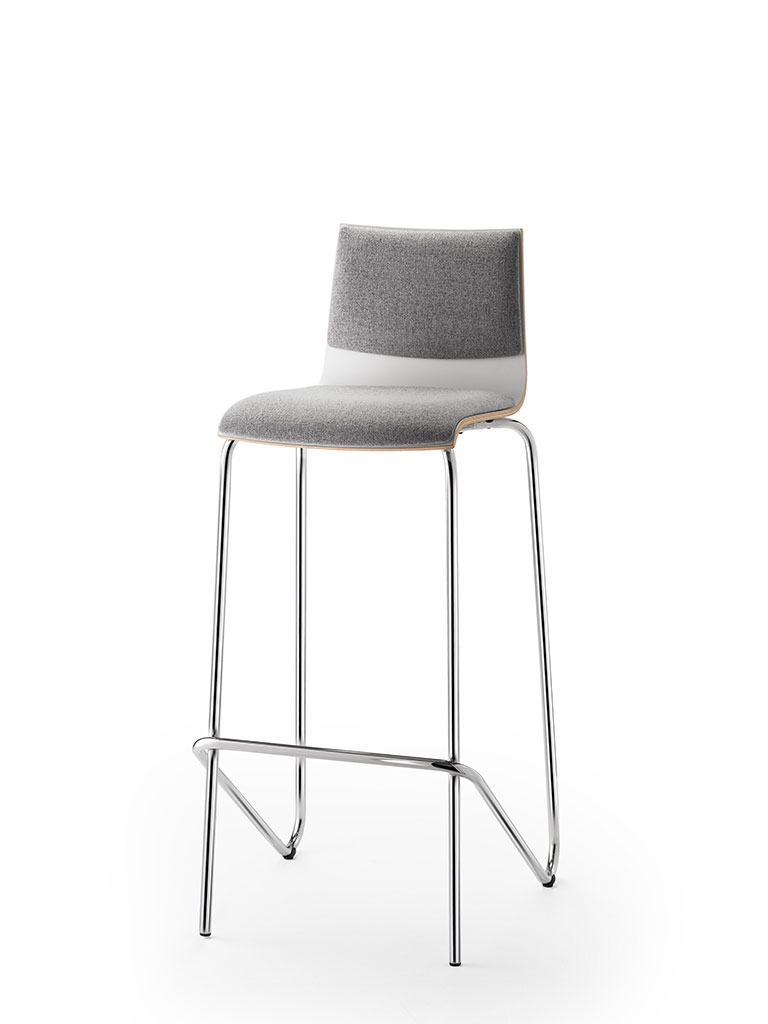 logochair | barstool | upholstered seat and backrest