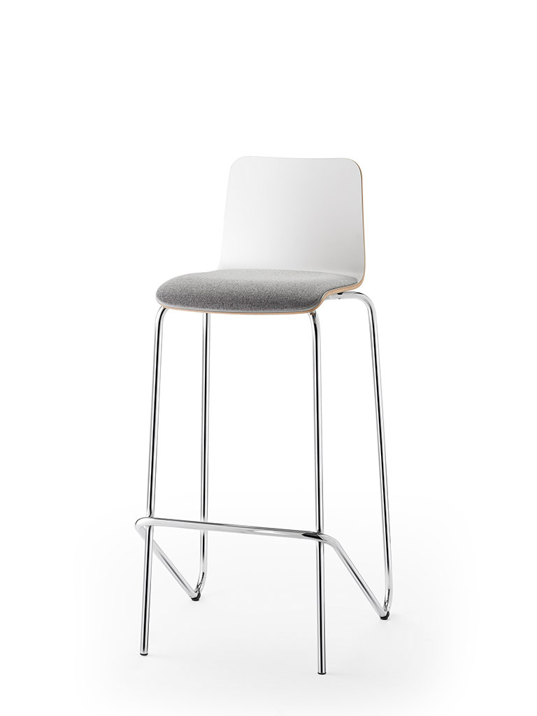 logochair | tabouret de bar | assise garnie