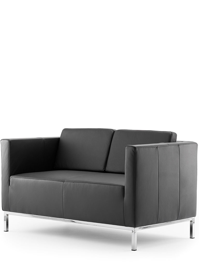 ultimo | three-seater, leather, with back cushion