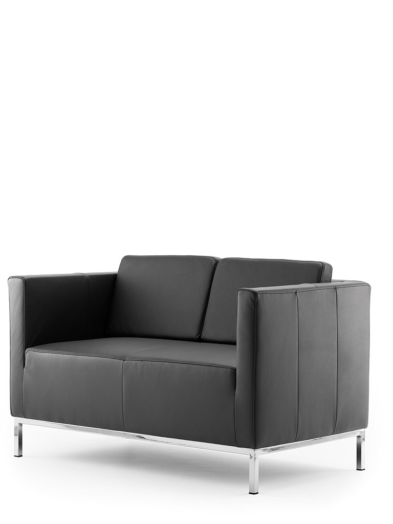 ultimo | two-seater, leather, with back cushion