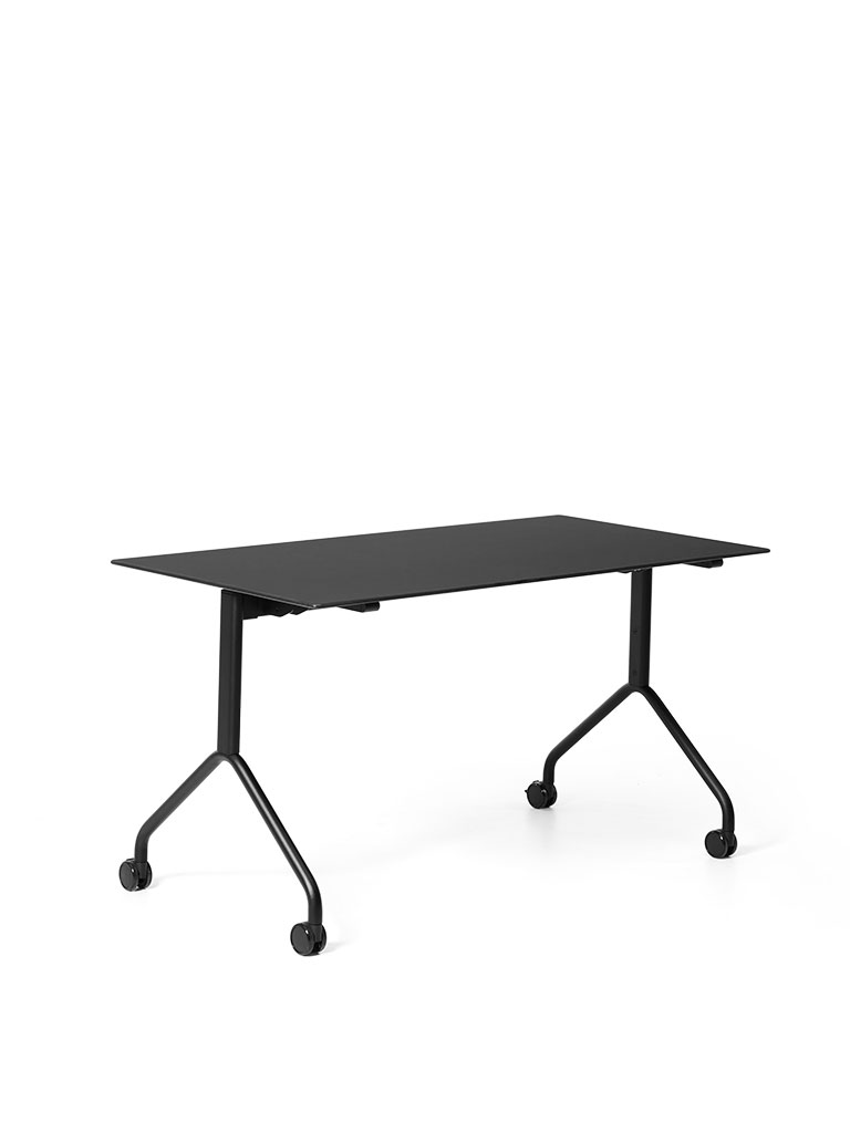 FX table | Staffeltisch | Flip-Top Table | Klapptisch | Gestell schwarz pulverbeschichtete Feinstruktur