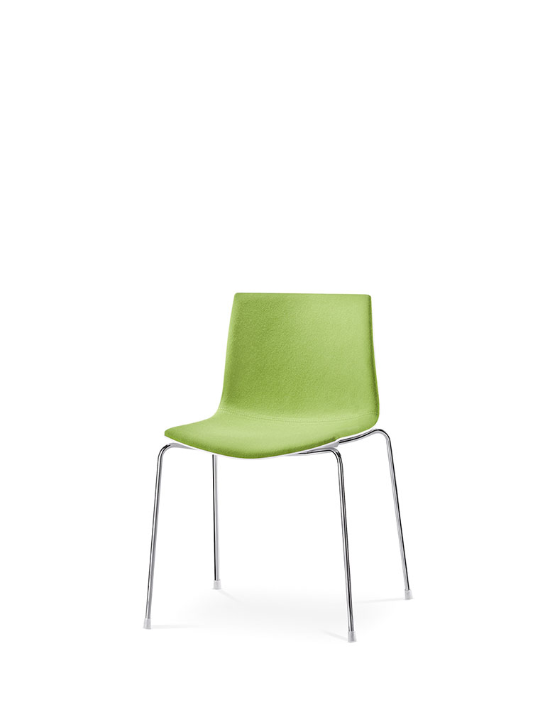 Catifa 46 by Arper | four legged chair | fully upholstered front