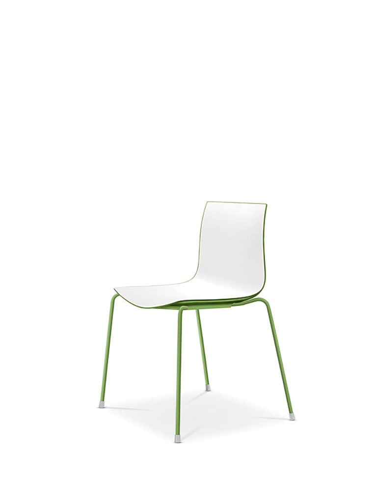 Catifa 46 by Arper | four legged chair | with polypropylene shell