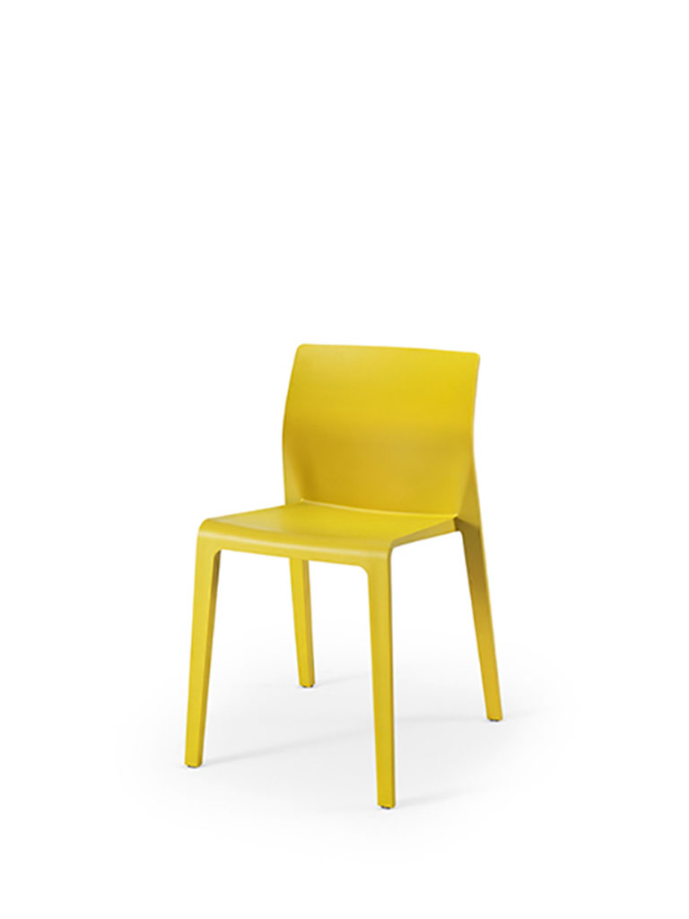 Juno by Arper | yellow | closed backrest