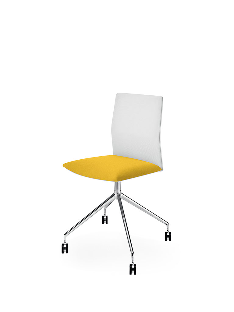 Kinesit by Arper | office chair | yellow | white