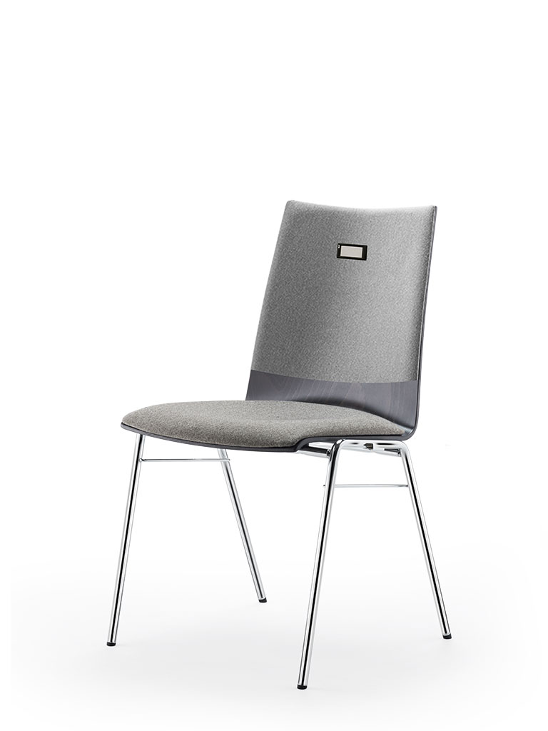 no.e | digital information and numbering system | integrated in four-legged chair logochair